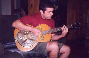Suke Cerulo playing Duane Allmans guitar